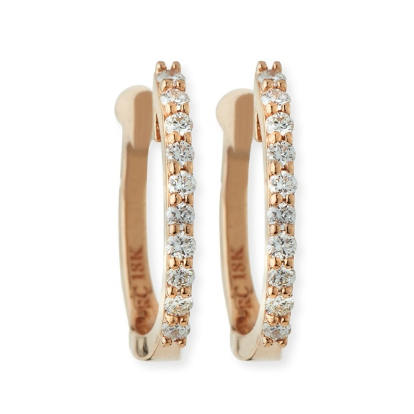 068afa9121ba4f Roberto Coin Jewelry   Baby Diamond 18k Rose Gold Huggies   Poshmark